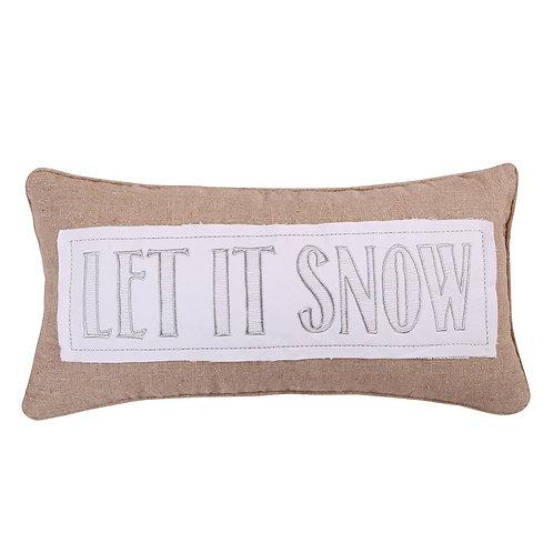 "SILENT NIGHT ""LET IT SNOW"" PILLOW"