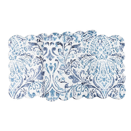 NATALIA DAMASK QUILTED TABLE RUNNER