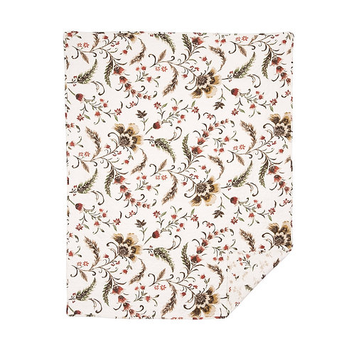AUTUMN BLOOM QUILTED THROW