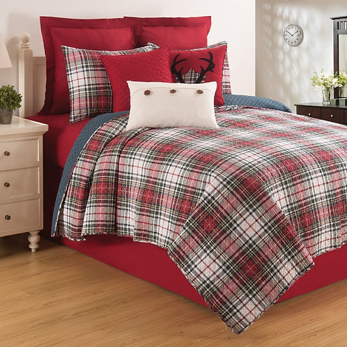 LENNOX PLAID QUILT SET
