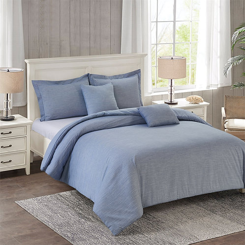 OXFORD STRIPES 5PC COMFORTER SET