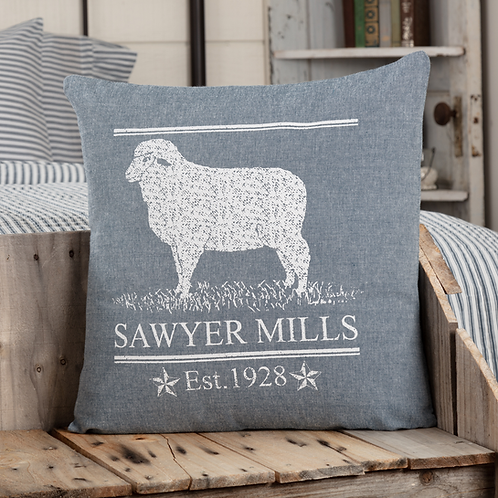 SAWYER MILL BLUE LAMB PILLOW