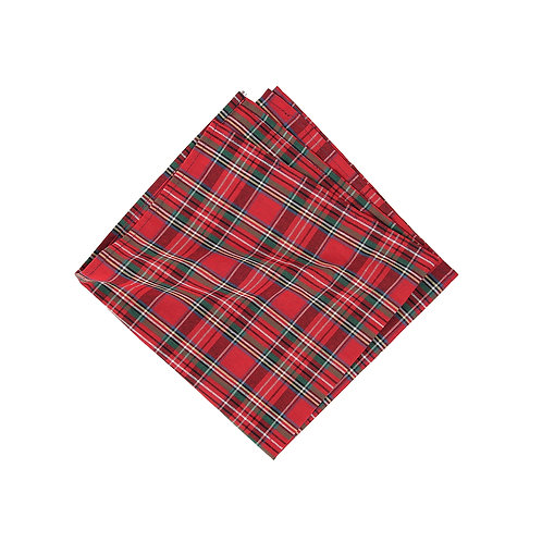 RED PLAID REVERSIBLE NAPKIN
