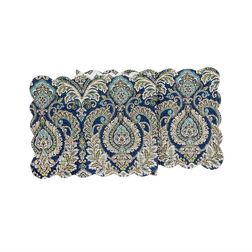 ADA NAVY QUILTED TABLE RUNNER
