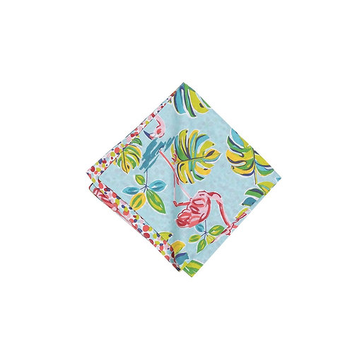 FLAMINGO GARDEN REVERSIBLE NAPKIN