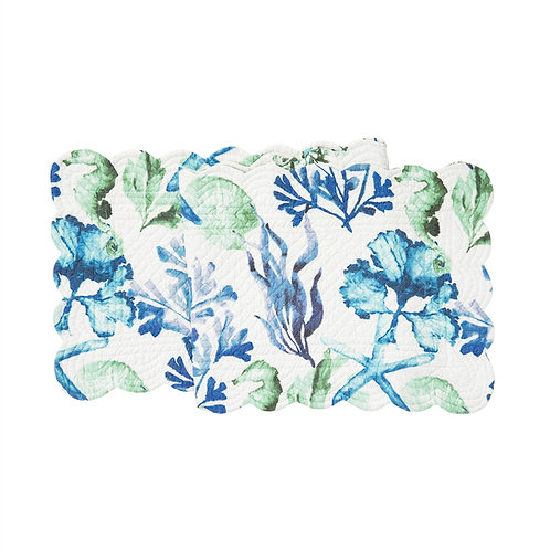 BLUE WATER BAY QUILTED TABLE RUNNER