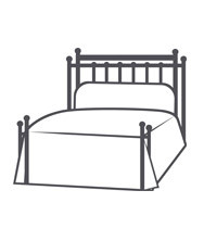 HEADBOARD/OPEN FOOTBOARD WITH RETURN POSTS