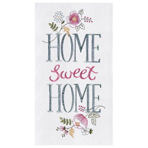 """Home Sweet Home"" EMBROIDERED FLOUR SACK TOWEL"