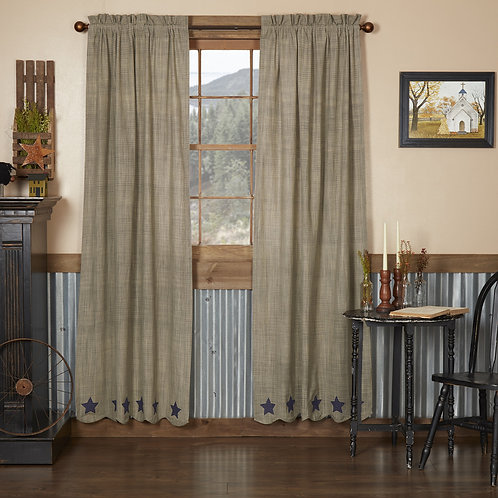 VINCENT SCALLOPED PANEL CURTAIN SET OF 2 84X40