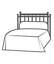 HEADBOARD ONLY WITH RETURN POSTS