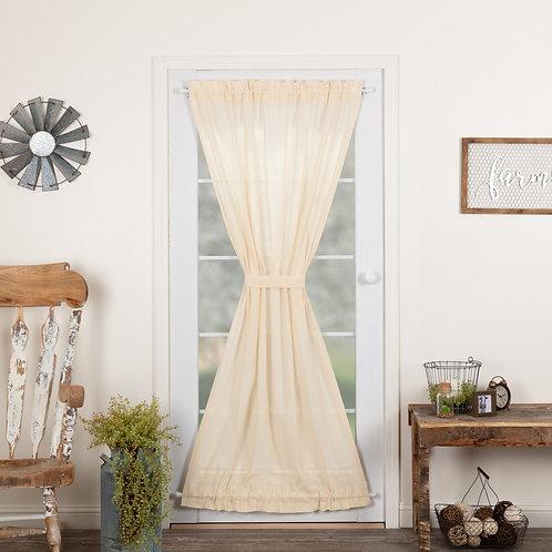 TOBACCO CLOTH NATURAL DOOR PANEL 72X40