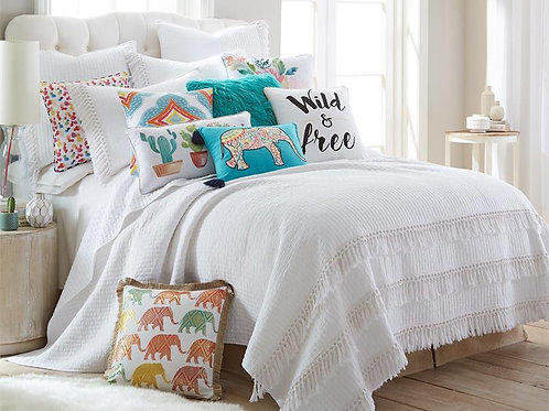 CASITA WHITE QUILT SET