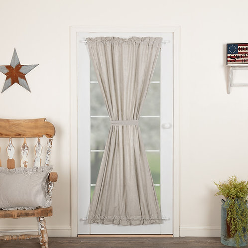 HATTERAS SEERSUCKER BLUE TICKING STRIPE DOOR PANEL 72X40