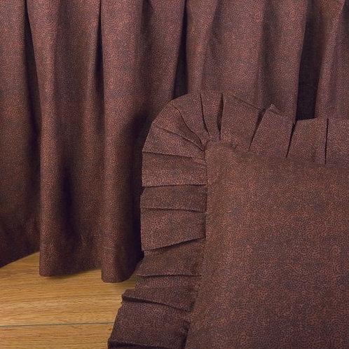 BROWN MOON DOT GATHERED BEDSKIRT