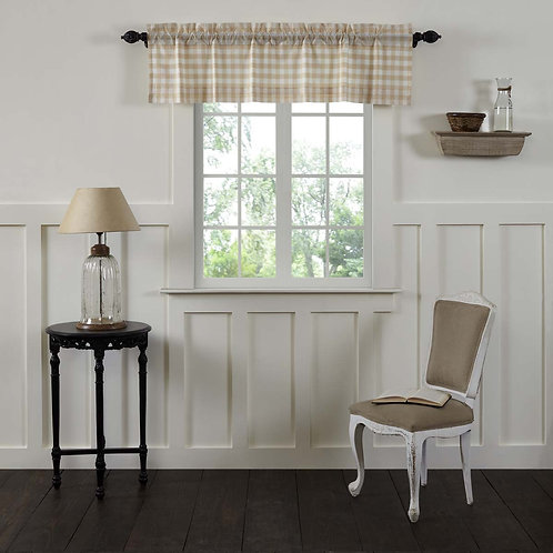 ANNIE BUFFALO TAN CHECK VALANCE CURTAIN