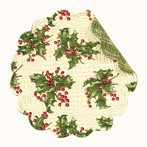 HOLLY QUILTED PLACEMAT