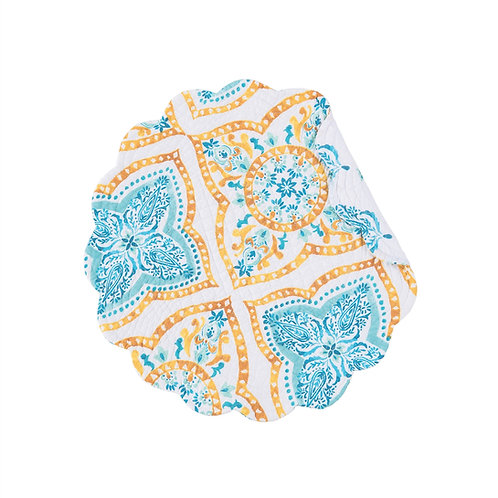 TERRACE MEDALLION QUILTED PLACEMAT