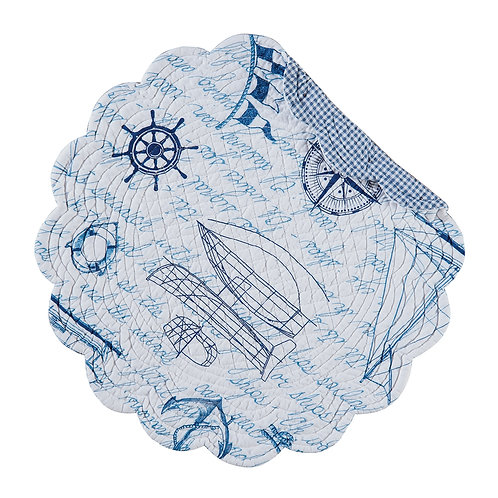 FAIR WINDS QUILTED PLACEMAT