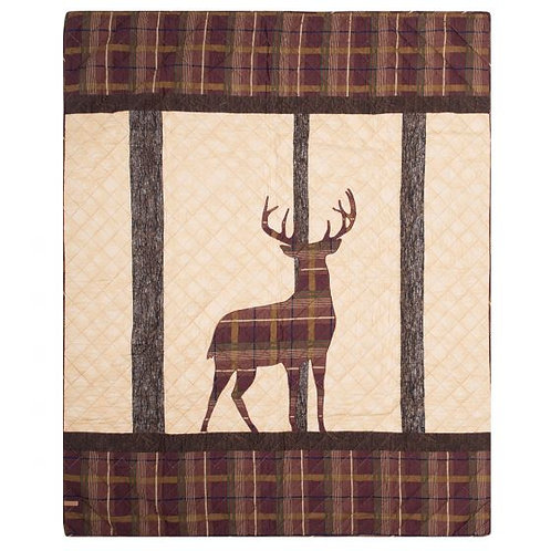 ANTLER WOODS QUILTED THROW