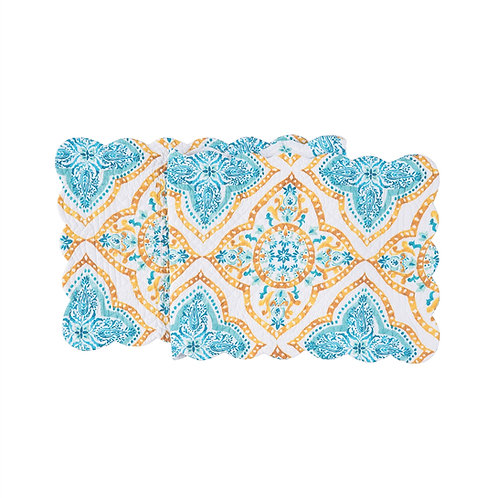 TERRACE MEDALLION QUILTED TABLE RUNNER