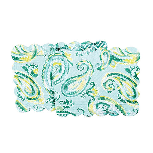 JADE QUILTED TABLE RUNNER