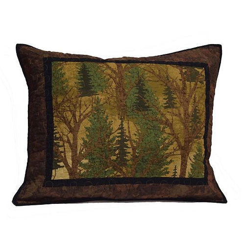 FOREST TREES (DEER BROOK) QUILTED SHAM
