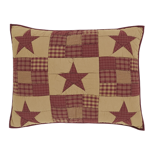 NINEPATCH STAR QUILTED SHAM
