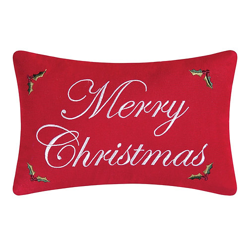 MERRY CHRISTMAS EMBROIDERED PILLOW