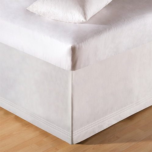 WHITE TAILORED BED SKIRT