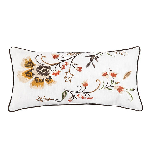 AUTUMN BLOOM EMBROIDERED PILLOW