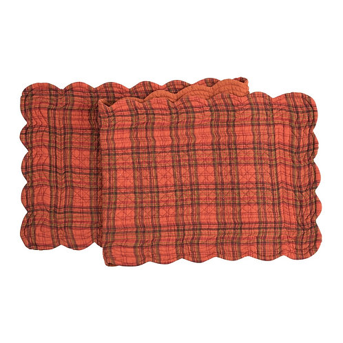 REMINGTON PLAID QUILTED TABLE RUNNER