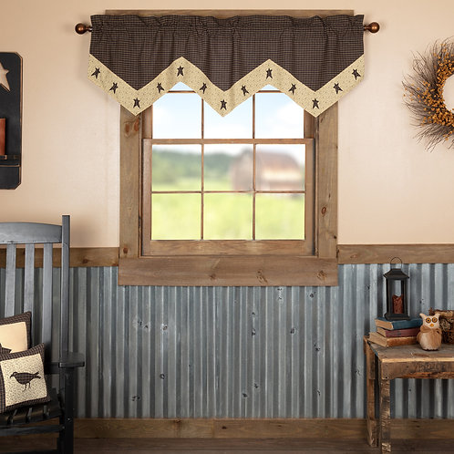KETTLE GROVE STAR VALANCE CURTAIN