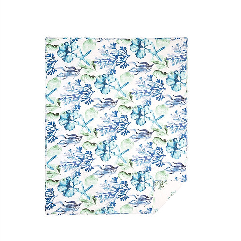 BLUE WATER BAY QUILTED THROW