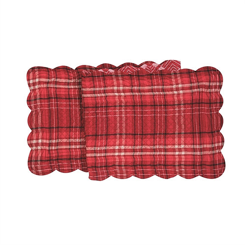 ANDREW RED QUILTED TABLE RUNNER