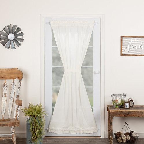 TOBACCO CLOTH ANTIQUE WHITE DOOR PANEL 72X40