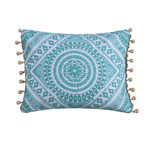 CRESSLEY EMBROIDERED BEAD PILLOW