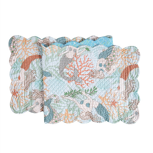 DANCING WATERS QUILTED TABLE RUNNER