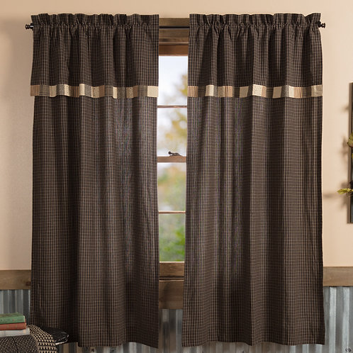 KETTLE GROVE SHORT PANEL CURTAIN WITH ATTACHED VALANCE SET OF 2 63X36