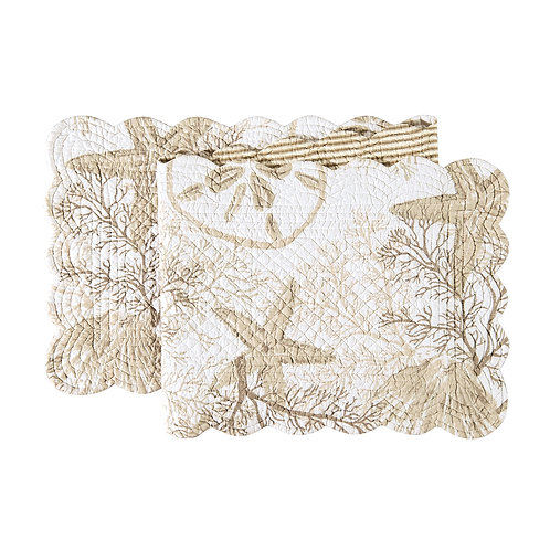 BAREFOOT LANDING QUILTED TABLE RUNNER