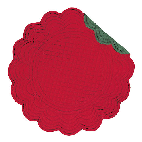 RED & GREEN QUILTED PLACEMAT