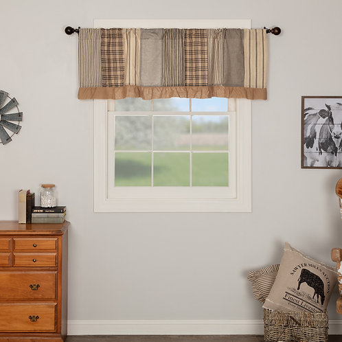 SAWYER MILL CHARCOAL PATCHWORK VALANCE