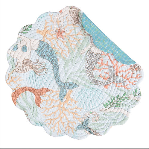 DANCING WATERS QUILTED PLACEMAT