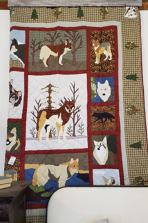 CALL OF THE WILD APPLIQUED QUILT