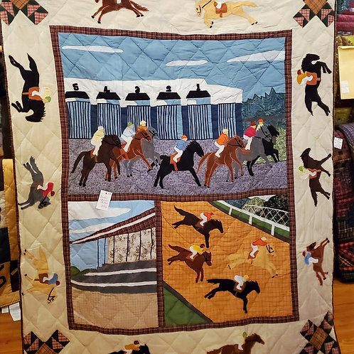 DERBY HAND QUILTED APPLIQUED THROW