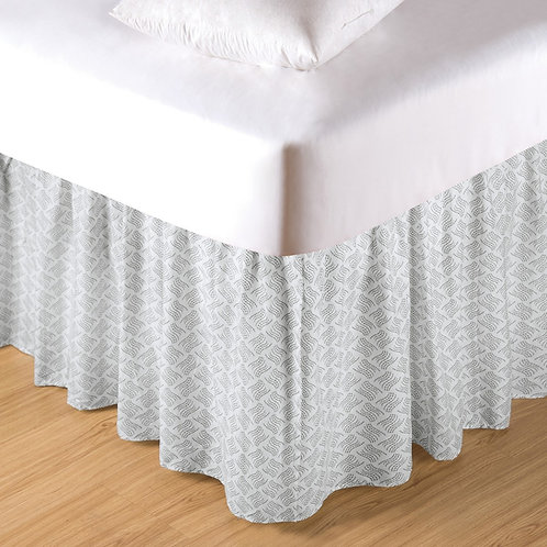 VOLTERRA DAMASK BED SKIRT