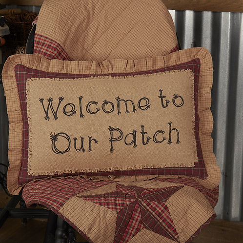 LANDON WELCOME TO OUR PATCH PILLOW
