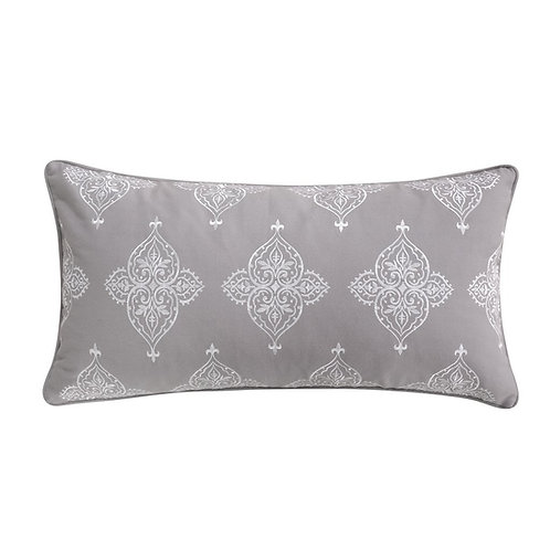 ROME EMBROIDERED DAMASK PILLOW