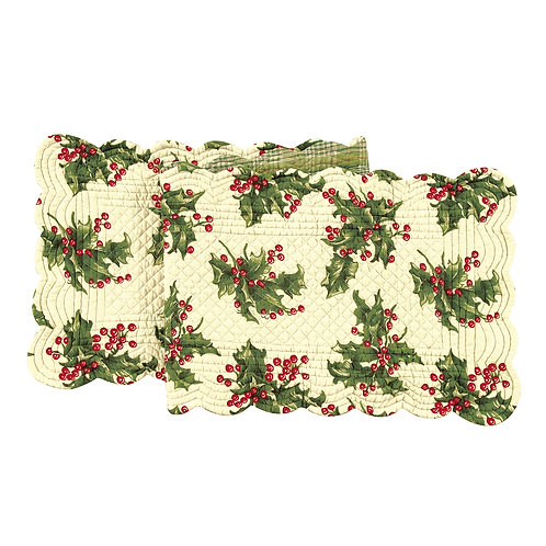 HOLLY QUILTED TABLE RUNNER