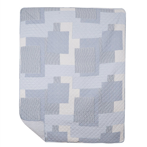 ASHER STRIPE QUILTED THROW