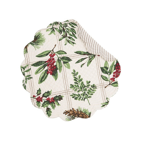 WINTER BOTANICAL QUILTED PLACEMAT